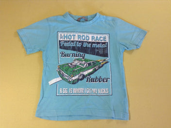 T-shirt m.c turquoise voiture