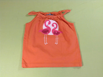 Top jersey orange flamants roses