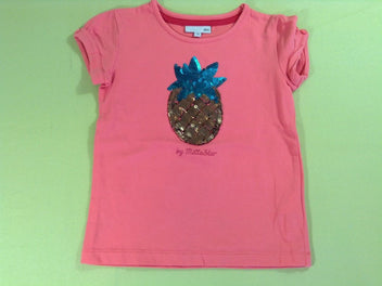 T-shirt m.c rose vif ananas sequins