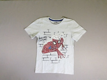 T-shirt m.c blanc Spiderman sequins réversibles