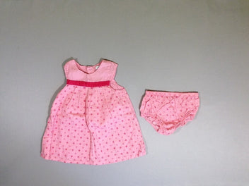 Ensemble robe s.m rose moulins à vent + culotte