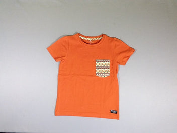 T-shirt m.c. orange motifs indiens
