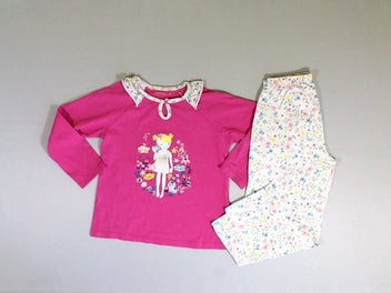 Pyjama 2 pcs  jersey coton rose fille appareil photo