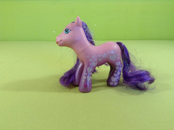 My little pony : petit poney rose-mauve, crin mauve irisé