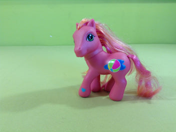 My little pony : petit poney rose, crin rose/orange