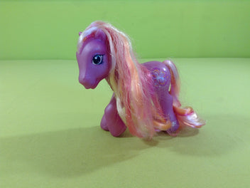 My little pony : petit poney mauve, crin rose clair/rose vif