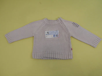 Pull gris Mickey ancre