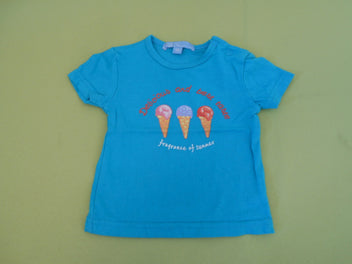 T-shirt m.l turquoise glaces