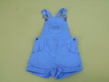 Salopette short bleu
