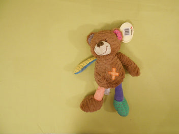 NEUF ours Nicotoy, tissus différentes couleurs