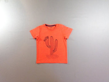 T-shirt m.c orange néon cactus