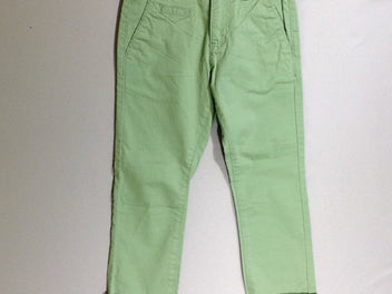 NEUF Pantalon chino vert à revers Slim Fit