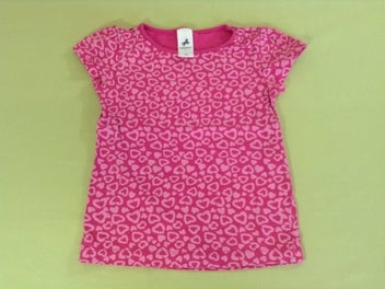 T-shirt m.c rose coeur