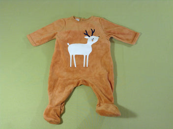 Pyjama velours moutarde cerf
