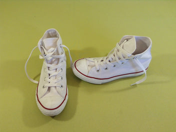 All Stars Chuck Taylor blanches état quasi neuf, baskets montantes toile