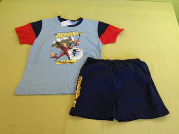 Pyjashort 2p bleu/rouge/marine, The Incredibles