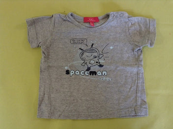 T-shirt m.c gris chiné spaceman