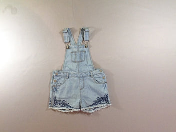 Salopette short jean clair
