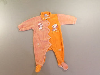 Pyjama velours orange Snoopy