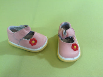 NEUF Chaussures rose fleur, T19, Happy Bee