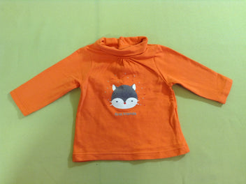 T-shirt col roulé orange « first friends »