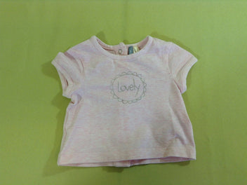T-shirt m.c rose chiné lovely