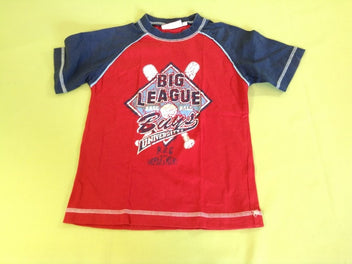 T-shirt m.c rouge/bleu marine base-ball
