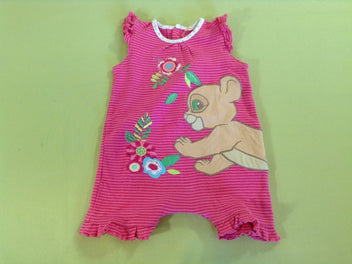 Combishort jersey rayé rose lion Disney Store