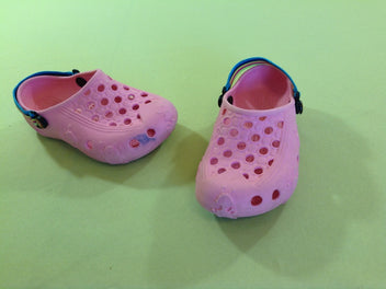 Sabots rose style Crocs, T.27-28, Dragonfly, Holey