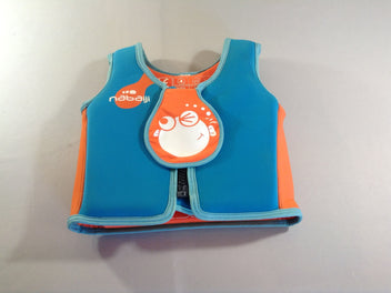 Gilet de natation bleu/orange M, 18-30kg, 3-6a