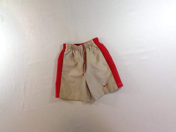 Maillot short beige rouge