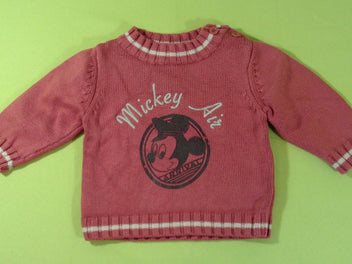 Pull rouge clair Mickey