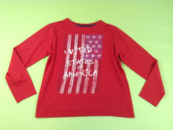 T-shirt m.l rouge « United States of America »