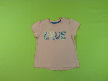 T-shirt m.c rose Love