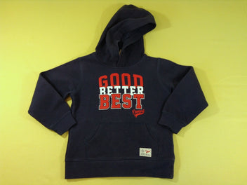Sweat à capuche bleu marine « Good Better Best »