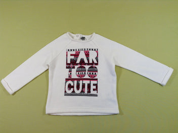 Sweat blanc « Far too cute »