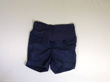 Short bleu à revers