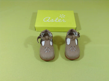 NEUF Aster Chaussures babies cuir taupe