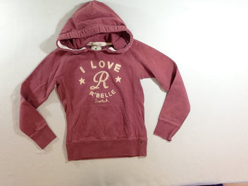 Sweat à capuche rose Love