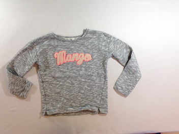 Sweat noir blanc flammé Mango