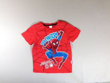 T-shirt m.c rouge spiderman