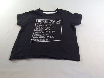 T-shirt m.c noir Destination