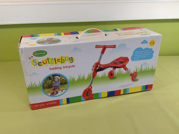 NEUF Scuttle Bug porteur tricycle pliable coccinelle