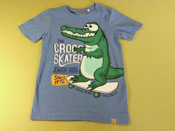 T-shirt m.c bleu chiné crocodile