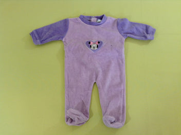 Pyjama velours mauve Minnie