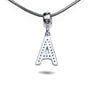 Letter A Sterling Silver Alphabet Initial Charm for Pandora Bracelets or Necklaces