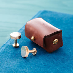Personalised-Bronze-Cufflinks-For-Groomsmen