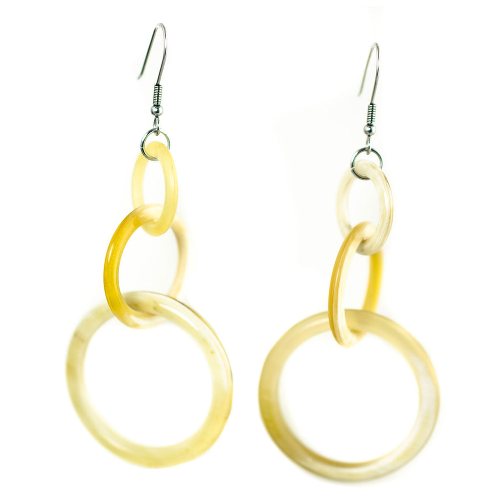 Horn Double Loop Earrings