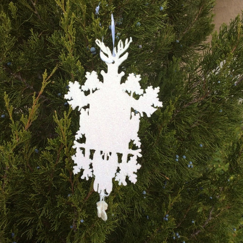 Cuckoo Clock Silouette Christmas Ornament
