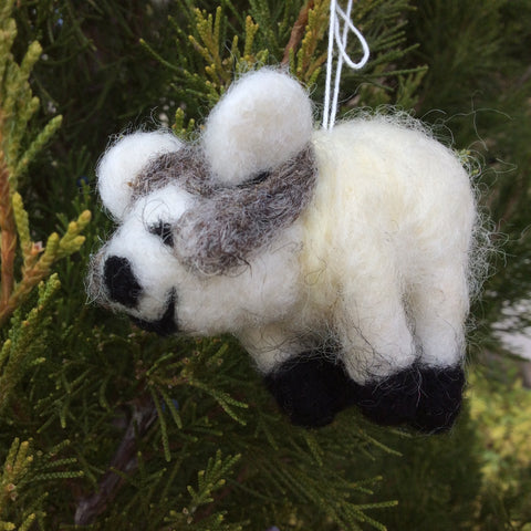 Felt Big Horn Sheep Holiday Ornament